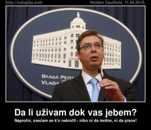 Beograd, 12. avgusta 2014.-Premijer Srbije Aleksandar Vucic izjavio je danas da nema informacije o zahtevima za novi briselski sporazum, da je on uvek spreman za Brisel, a Srbija za nastavak dijaloga, ali da nema s kim da pregovara.